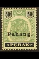 PAHANG 1898 50c Green And Black, Tiger, SG 22, Very Fine Mint. For More Images, Please Visit Http://www.sandafayre.com/i - Great Britain (former Colonies & Protectorates)