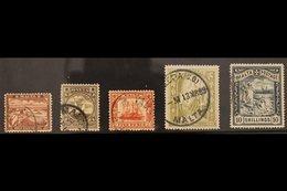1899-1901 Complete Set, SG 31/35, Fine Used. (5 Stamps) For More Images, Please Visit Http://www.sandafayre.com/itemdeta - Malta (...-1964)