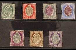 1903-04 KEVII (wmk Crown CA) Complete Set, SG 38/44, Fine Mint. (7 Stamps) For More Images, Please Visit Http://www.sand - Malta (...-1964)