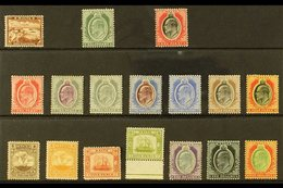 1904-14 KEVII MCA Wmk Definitive Set, SG 45/63, Very Fine Mint (17 Stamps) For More Images, Please Visit Http://www.sand - Malta (...-1964)