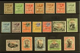 "1928 ""POSTAGE AND REVENUE"" Overprints Complete Definitive Set, SG 174/192, Fine Mint. (19 Stamps) For More Images, Pleas - Malta (...-1964)"