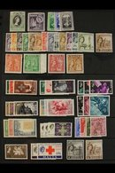 1953-1970 FINE MINT COLLECTION An All Different Collection Which Includes 1956-58 Complete Defin Set With Both 2d Shades - Malta (...-1964)