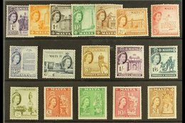 1956-58 Definitives Complete Set, SG 266/82, Never Hinged Mint. (17 Stamps) For More Images, Please Visit Http://www.san - Malta (...-1964)
