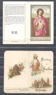 Sacré Coeur De Jésus Lot De 2 Images De 4 Pages Chacune - Imágenes Religiosas