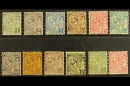 1891-94 Albert I Values To 1fr Plus Additional 1c & 15c Shades, Yv 11/20, Average Mint. Cat 1100+ Euros (£770 ). (12 Sta - Mónaco