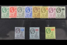 1916-22 Watermark Multi Crown CA Complete Definitive Set, SG 49/59, Very Fine Mint. (11 Stamps) For More Images, Please  - Montserrat