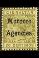 1898-1900 20c Olive-green With OVERPRINT DOUBLE, SG 3ca, Very Fine Mint. For More Images, Please Visit Http://www.sandaf - Morocco (1891-1956)