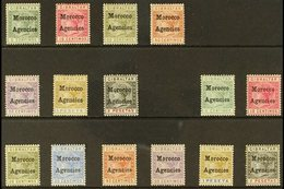 1898-1900 MINT QV SELECTION. An Attractive Mint Selection On A Stock Card That Includes 1898 (Type I Opt) Set (less 25c) - Morocco (1891-1956)