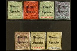 1905-06 Overprints On Gibraltar Complete Set, SG 24/30, Fine Mint. (7 Stamps) For More Images, Please Visit Http://www.s - Morocco (1891-1956)