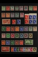 1905-1955 FINE MINT COLLECTION With BRITISH CURRENCY Including KEVII Range To 1s, KGV Range To 5s, And 1951 Set Never Hi - Morocco (1891-1956)