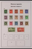 1937-52 FINE USED COLLECTION. A Well Presented, All Different Collection, Lightly Hinged Onto Printed Sleeved Pages That - Morocco (1891-1956)