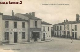 BOUSSAY PLACE DE L'EGLISE CAFE DU CENTRE EPICERIE COMMERCES 44 - Boussay
