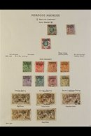 BRITISH CURRENCY 1907 - 1956 Fine Used Collection Written Up On Pages Including 1907 Values To 1s, 1914 Geo V Set Comple - Morocco (1891-1956)