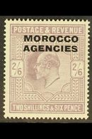 BRITISH CURRENCY 1907 2s 6d Pale Dull Purple, Ed VII, SG 38, Very Fine Mint. For More Images, Please Visit Http://www.sa - Morocco (1891-1956)