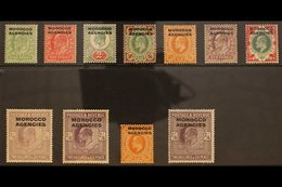BRITISH CURRENCY 1907-13 KEVII De La Rue Set (SG 31/38), Plus 2s6d Listed Shade (SG 38a), Harrison 4d (SG 40) And Somers - Morocco (1891-1956)