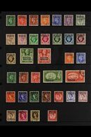 BRITISH CURRENCY 1949-1956 KGVI & QEII COMPLETE VERY FINE USED A Complete Run SG 77/111. Lovely! (35 Stamps) For More Im - Morocco (1891-1956)