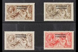 BRITISH CURRENCY 1914-31 SEAHORSES 2s6d Waterlow, D.L.R. And B.W. Printings, Plus The B.W. 5s, SG 50/54, Fine Fresh Mint - Morocco (1891-1956)