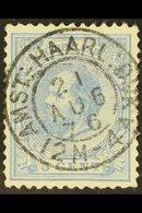 """POSTMARK 1872-91 5c Ultramarine (Mi 19), Superb Used With """"Socked On The Nose"""" C.d.s. Postmark Of """"AMST : HAARL : DIJK""""  - Netherlands"""
