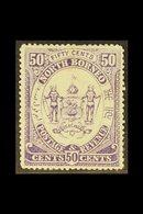 1883 50c. Violet, SG 4, Fine Mint. For More Images, Please Visit Http://www.sandafayre.com/itemdetails.aspx?s=630780 - Borneo Septentrional (...-1963)