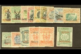 "1901-05 ""BRITISH PROTECTORATE"" Overprints With 1c To 8c, 12c, 16c, 18c, 24c, 25c, Both $1, And $2, SG 127/133, 135/139,  - Borneo Septentrional (...-1963)"