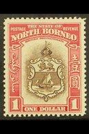 1939 $1 Brown & Carmine, SG 315, Fine Mint For More Images, Please Visit Http://www.sandafayre.com/itemdetails.aspx?s=60 - Borneo Septentrional (...-1963)