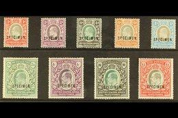 "1903-04 Set Complete Opt'd ""SPECIMEN"", SG 59s/66s, Mint Part OG, Very Fresh & Attractive (9 Stamps) For More Images, Ple - Nyassaland (1907-1953)"