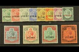 """1913 - 21 Geo V Set , Wmk MCA, Complete, Overprinted """"Specimen"""", SG 83s/98s, Very Fine Mint, Large Part Og, Traces Of  P - Nyassaland (1907-1953)"""