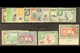 1953-54 Complete Definitive Set, SG 173/187, Very Fine Used. (15 Stamps) For More Images, Please Visit Http://www.sandaf - Nyassaland (1907-1953)
