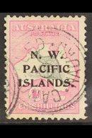 "NWPI 1915-16 10s Grey & Pink Roo Watermark W2 Overprint, SG 99, Fine Used With ""Nauru / Cancelled"" Cancels, Slightly Cen - Papua New Guinea"