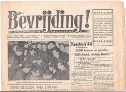 """KRANT """"EN TOCH BEVRIJDING !"""" UITGEGEVEN DOOR DE K.A.J. EN DE V.K.A.J.- DECEMBER 1944, 2de HELFT  (OD 459) - Anuncios"""