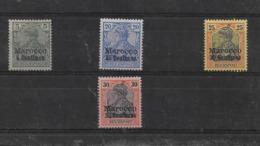 Sellos De Marruecos 8I, 10, 11 Y 12 * Valor Catálogo 27.00€ - Oficina: Marruecos