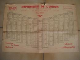 SAIGON - Document RARE - Calendrier, Horaire ? En Vietnamien 1949 - Imprimerie De L'Union - KY SU U NIEN - Publicidad