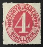 1864 Ziffer 4 Schillinge Mi.3(*) - Schleswig-Holstein