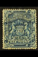 """1892-3 £1 Deep Blue, SG 10, VFU With Light & Clear """"FRANCESTOWN"""" Postmark, Small Closed Tear At Top. For More Images, Pl - Great Britain (former Colonies & Protectorates)"""