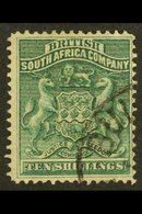 1892-93 10s Deep Green, SG 9, With Part Papermaker's Watermark, Very Fine Used. For More Images, Please Visit Http://www - Great Britain (former Colonies & Protectorates)