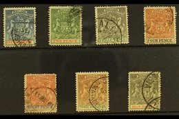 1892-94 Arms Set, SG 18/26, Fine Used, All But 2d Are Cds. (7) For More Images, Please Visit Http://www.sandafayre.com/i - Great Britain (former Colonies & Protectorates)