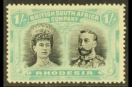 """1910 1s Black And Pale Blue Green """"Double Head"""", SG 152, Very Fine Mint. For More Images, Please Visit Http://www.sandaf - Great Britain (former Colonies & Protectorates)"""