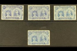 """1910 2½d Ultramarine, 4 Different """"Double Heads"""", SG 131 - 133, Fine To Very Fine Mint. (4 Stamps) For More Images, Plea - Great Britain (former Colonies & Protectorates)"""