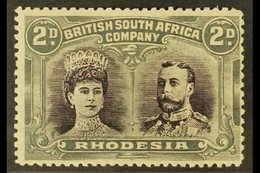 """1910 2d Black Purple And Slate Grey """"Double Head"""", SG 127, Fine Mint, Centred Right. For More Images, Please Visit Http: - Great Britain (former Colonies & Protectorates)"""