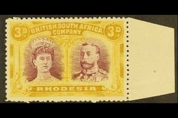 1910 3d Magenta And Yellow Ochre, Double Head, SG 136, Very Fine Marginal Mint. For More Images, Please Visit Http://www - Great Britain (former Colonies & Protectorates)