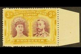 1910 3d Magenta And Yellow Ochre, Double Head, SG 136, Very Fine Marginal Mint. For More Images, Please Visit Http://www - Gran Bretaña (antiguas Colonias Y Protectorados)