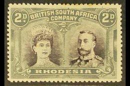 1910-13 2d Black-purple & Slate-grey, Double Head, SG 127, Mint, Few Toned Perfs At Top, Cat.£160. For More Images, Plea - Gran Bretaña (antiguas Colonias Y Protectorados)