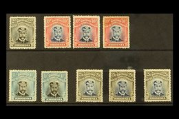 1913 HEAD DIE II ADMIRALS Selection Of Mint Perf 15 Issues With 2d Black And Grey, 10d Blue And Red (3), 1s Black And Gr - Great Britain (former Colonies & Protectorates)