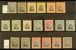 "1913-19 DIE II MINT ""ADMIRALS"" COLLECTION Presented On A Stock Card & Includes(perf 14) 2d (both Shades), 3d Black And  - Gran Bretaña (antiguas Colonias Y Protectorados)"