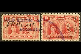 """GOLD MINING 1910-13 1d Carmine Double Heads, Fiscally Used Circa 1912, With """"Gold Mining Co"""" And """"Goldfields"""" Overprint/ - Great Britain (former Colonies & Protectorates)"""