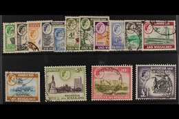 1959-62 Definitives Complete Set, SG 18/31, Fine Used. (15 Stamps) For More Images, Please Visit Http://www.sandafayre.c - Rhodesia & Nyasaland (1954-1963)