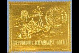 1972 600f Apollo 15 Gold Foil, Mi 473 A, SG 442, Never Hinged Mint For More Images, Please Visit Http://www.sandafayre.c - Rwanda