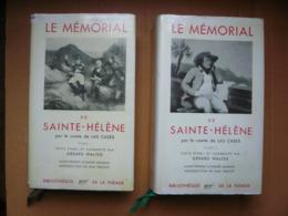 LE MEMORIAL DE SAINTE-HELENE Par Le Comte De LAS CASES- Bibliothèque De La Pléiade -2 Tomes:1956 Et 1957- - La Pleiade