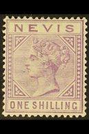 1882-90 1s Pale Violet, Wmk Crown CA, Perf.14, SG 34, Fine Mint. For More Images, Please Visit Http://www.sandafayre.com - St.Christopher-Nevis-Anguilla (...-1980)