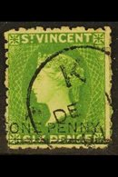 1881 One Penny On 6d Bright Green, SG 34, Fine Cds Used For More Images, Please Visit Http://www.sandafayre.com/itemdeta - St.Vincent (...-1979)